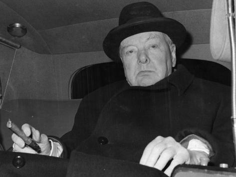 Winston Churchill Stretched Canvas Print