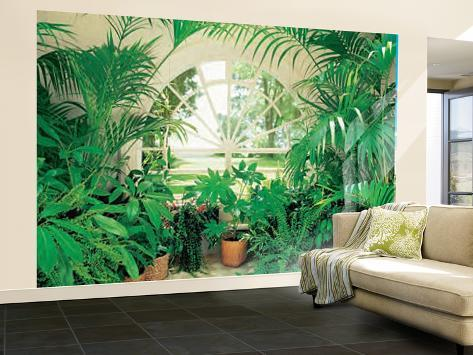 Winter garden landscape huge wall mural art print poster for Winter wall murals