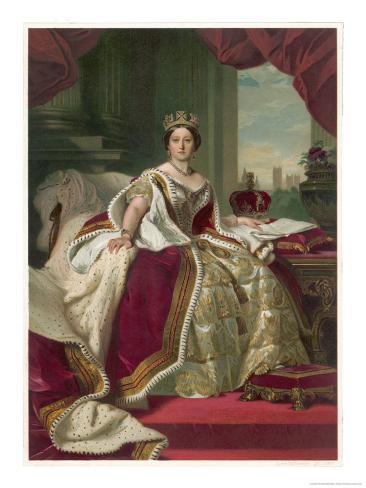 Queen Victoria Circa 1845 Giclee Print