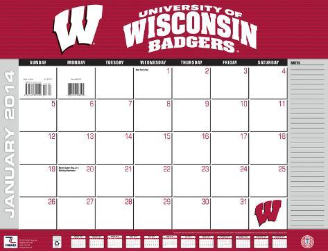 Wisconsin Badgers - 2014 Desk Calendar Calendars