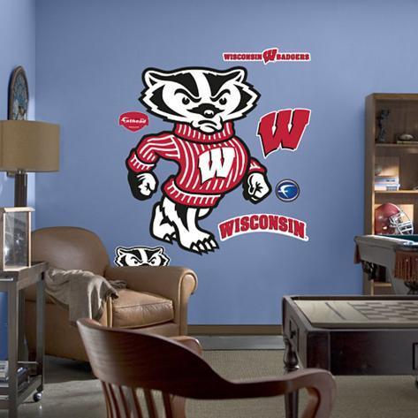 Wisconsin Mascot Bucky Badger Wall Decal At