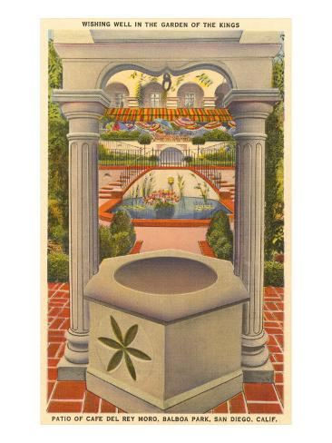 Wishing Well, Cafe del Rey Moro, San Diego, California Art Print