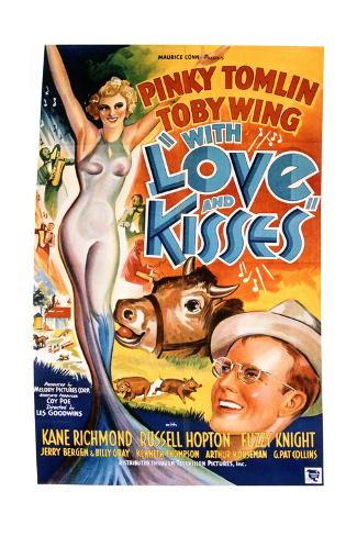With Love and Kisses - Movie Poster Reproduction Stampa artistica