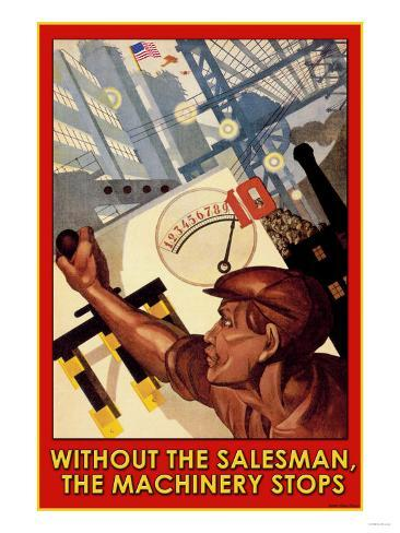 Without the Salesman Art Print