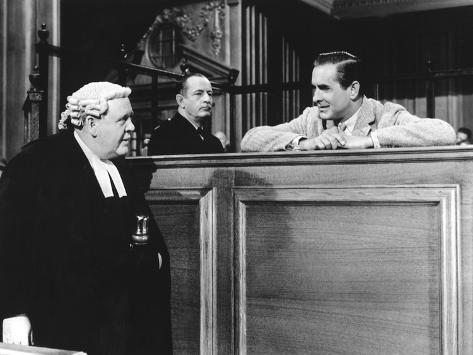 Witness For The Prosecution, Charles Laughton, Tyrone Power, 1957 Foto