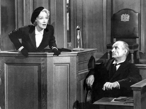 Witness For The Prosecution, Marlene Dietrich, 1957 Foto