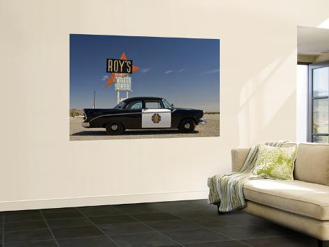 1956 Dodge Coronet Police Cruiser at Roys Motel and Cafe in Amboy Giant Art Print