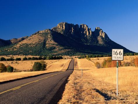 Sawtooth Mountain in Davis Mountains, Fort Davis, Texas Photographic Print