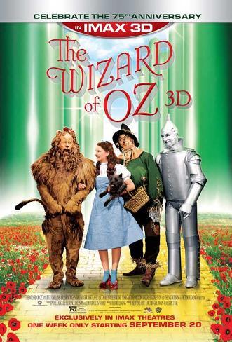 Wizard of Oz IMAX 3D Pôster com moldura laminada