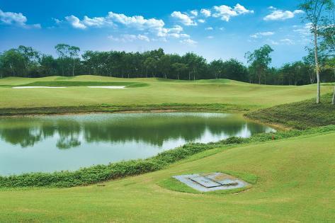 Landscape of Golf Links Photographic Print