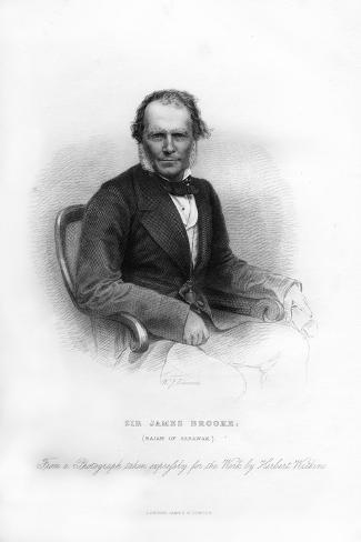 Sir James Brooke, Rajah of Sarawak, 19th Century Giclee Print