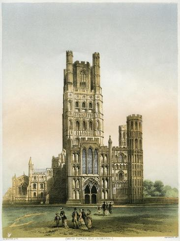 Ely Cathedral, Cambridgeshire, C1870 Giclee Print