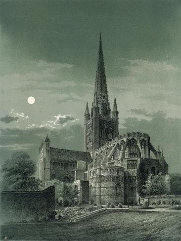 Norwich Cathedral, Norfolk, C1870 Giclee Print