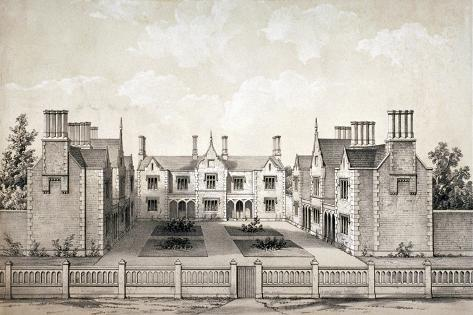 View of the Bookbinders' Provident Asylum, Balls Pond Road, Islington, London, C1845 Giclee Print