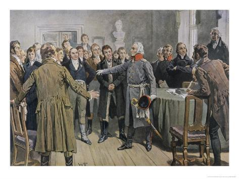 General Von Yorck Urges the East Prussian Diet at Konigsberg to Take Decisive Action Giclee Print