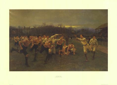 The Rugby Match Art Print