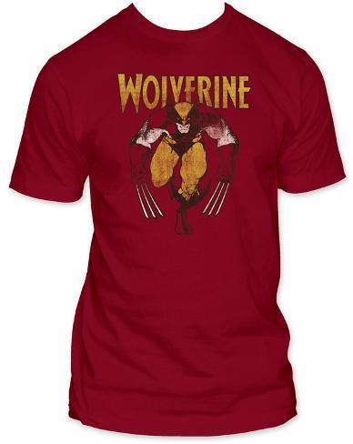 Wolverine - Wolverine on Red T-Shirt