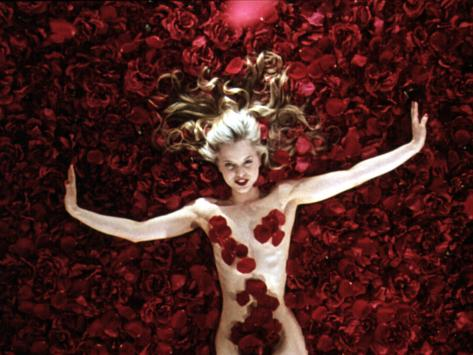 Woman Sprawled Out on Bed of Roses Covering Her Body Oscar 1999 Stretched Canvas Print