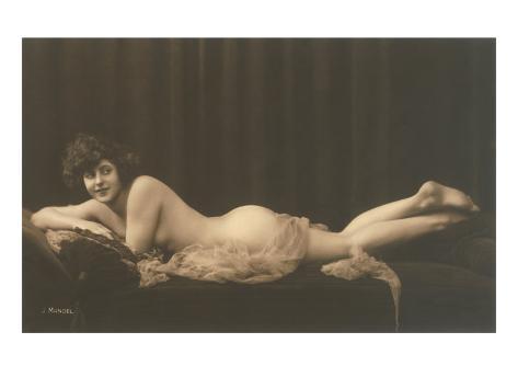 Woman with Filmy Wrap Art Print