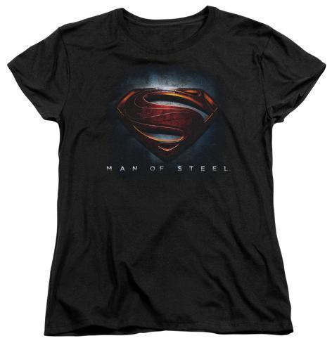 Womans: Man of Steel - Man of Steel Shield Ladies T-Shirt