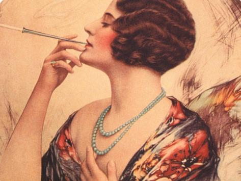 Women Cigarettes Holders Smoking, USA, 1920 Giclee Print