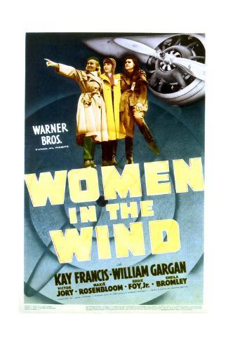 Women in the Wind - Movie Poster Reproduction Stampa artistica