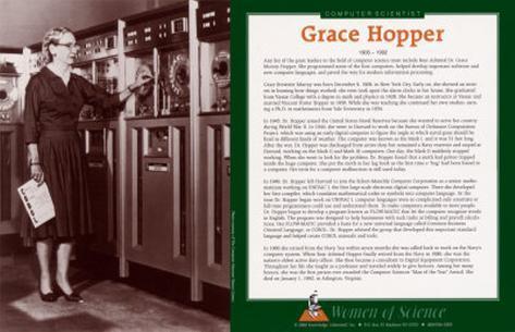 Women of Science - Grace Hopper Framed Art Print