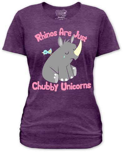 Women's: Chubby Unicorn Womens T-Shirts