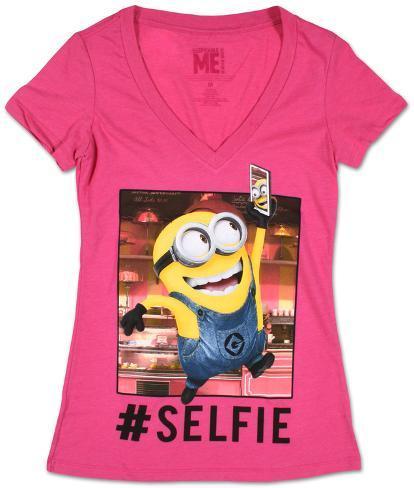 Women's: Despicable Me- Selfie Minion Womens T-Shirts