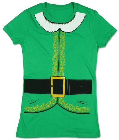 Women's: Elf Costume Tee Womens T-Shirts