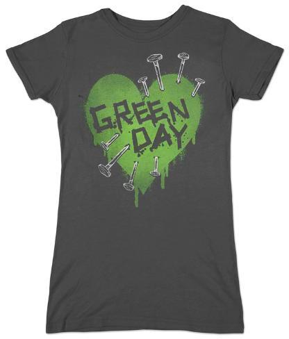 Women's: Green Day - Nail Heart Camisetas de mujer
