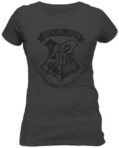 Women's: Harry Potter - Distressed Hogwarts Crest Womens T-Shirts