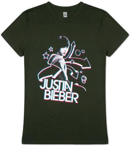 Women's: Justin Bieber - 3D Womens T-Shirts