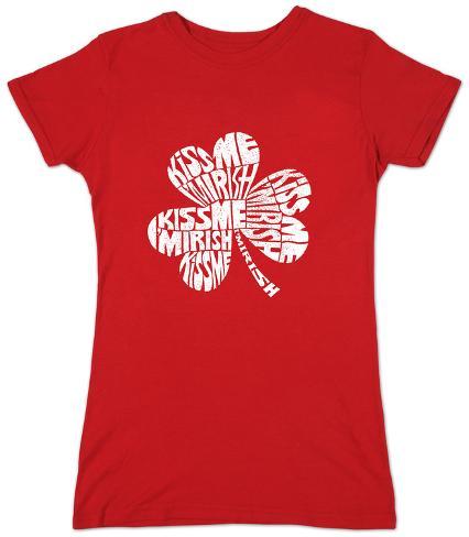 Women's: Kiss Me I'm Irish Womens T-Shirts