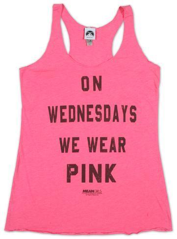 Women's: Mean Girls- Pink Tank Top Camisetas de tirantes para mujer