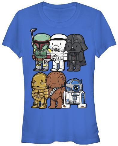 Women's: Star Wars- Cute Wars Womens T-Shirts