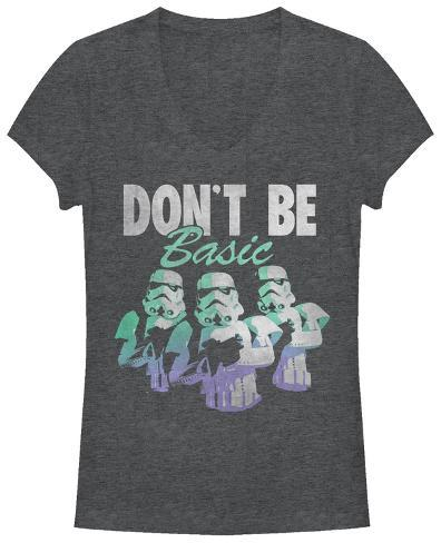 Women's: Star Wars- Don't Be Basic V-Neck Camisetas gola V femininas