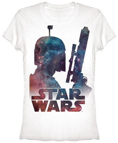 Women's: Star Wars- Fett Nebula Womens T-Shirts