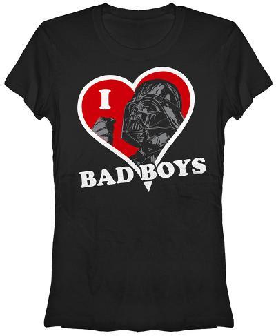 Women's: Star Wars- I Heart Bad Boys Womens T-Shirts