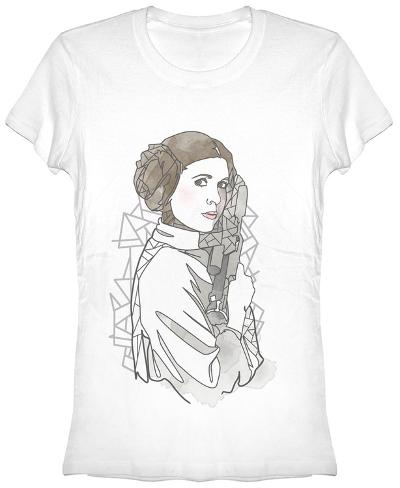 Women's: Star Wars- Leia Outline Womens T-Shirts