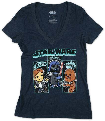 Women's: Star Wars-Sound Effects V-Neck Camisetas gola V femininas