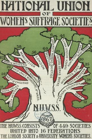 Women's Suffrage Societies Giclee Print