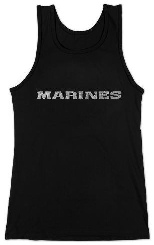 Women's: Tank Top - Lyrics To The Marines Hymn Womens Tank Tops