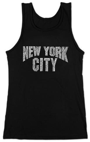 Women's: Tank Top - NYC Neighborhoods Womens Tank Tops