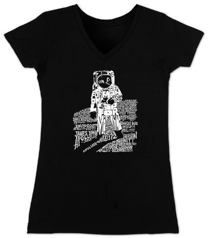 Women's: V-Neck - Astronaut Womens V-Necks