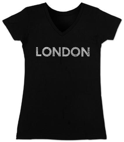 Women's: V-Neck- London Neighborhoods Womens V-Necks