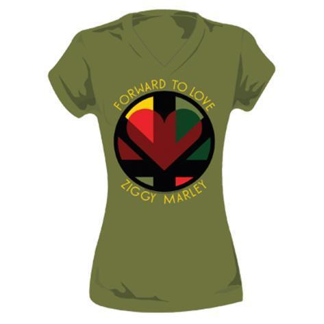 Women's: Ziggy Marley - Forward to Love Womens T-Shirts