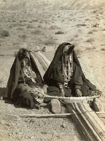 Women Sitting in Desert Like Land and Wearing Jewel Headdress Valokuvavedos