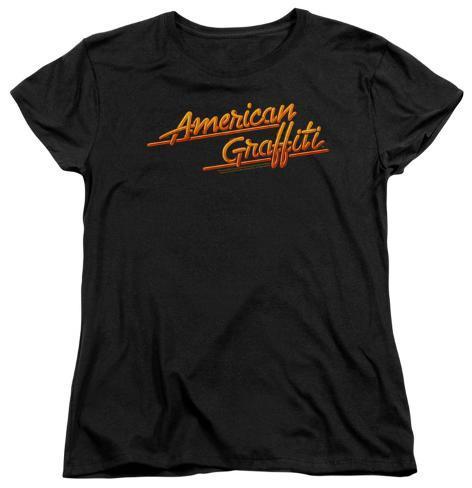 Womens: American Grafitti - Neon Logo Womens T-Shirts