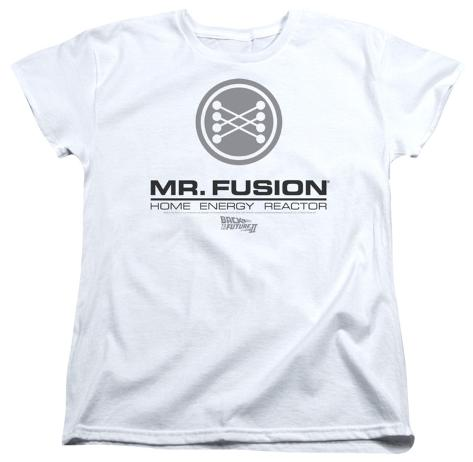 Womens: Back To The Future II - Mr. Fusion Logo Womens T-Shirts